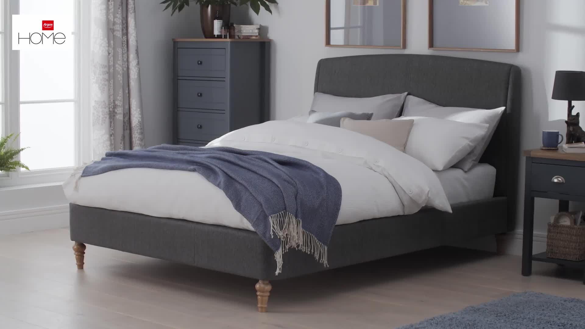 Buy Argos Home Maltese Double Bed Frame - Grey  Bed frames  Argos