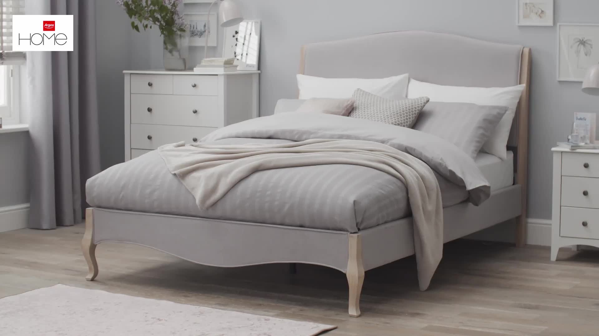 Buy Argos Home Candice Double Bed Frame - Natural  Bed frames  Argos