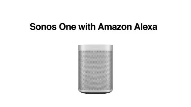 Sonos One Wireless Smart Speaker -  Black